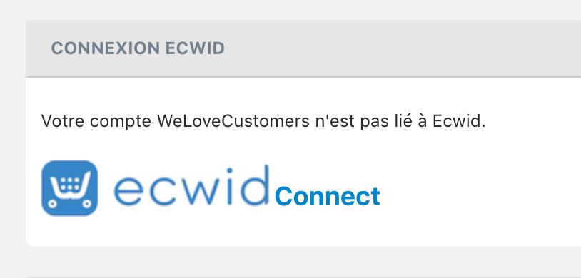 Bouton Ecwid connect application de parrainage