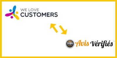 Connecter We Love Customers et Avis Vérifiés