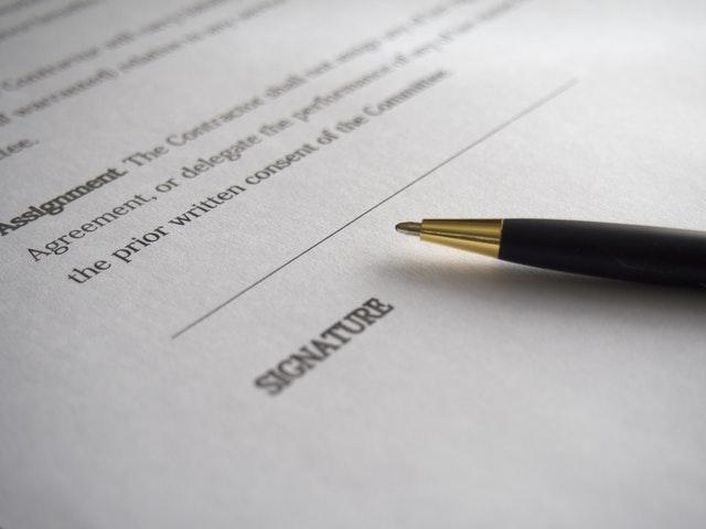 contrat de parrainage - la signature du client